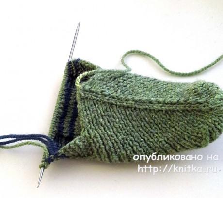 Тапочки спицами. Работа Ольги Ярославской вязание и схемы вязания