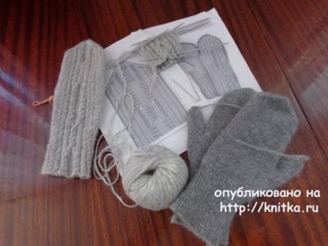 Вязаные спицами варежки. Работа Надежды Лавровой вязание и схемы вязания