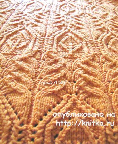 Женский кардиган спицами. Работа Irene IVAS вязание и схемы вязания