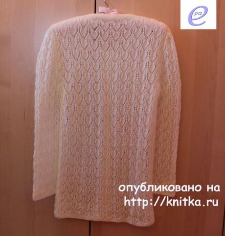 Женский кардиган спицами. Работа Веры Коваль вязание и схемы вязания