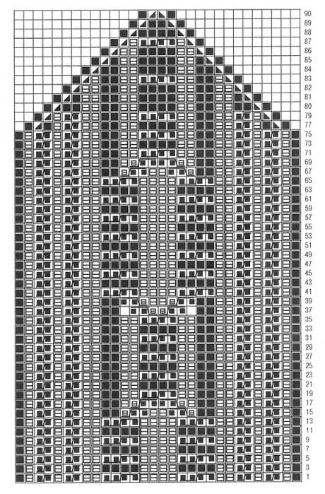 Схема вязания варежек: