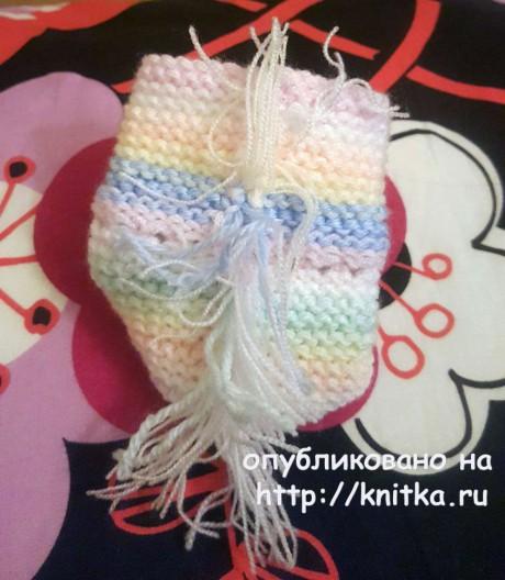 Радужные пинетки спицами. Работа Людмилы вязание и схемы вязания