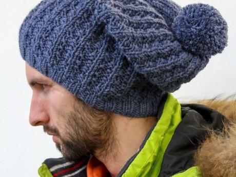Как связать мужскую шапку спицами, мастер-класс!
