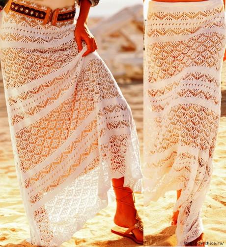 женская юбка спицами