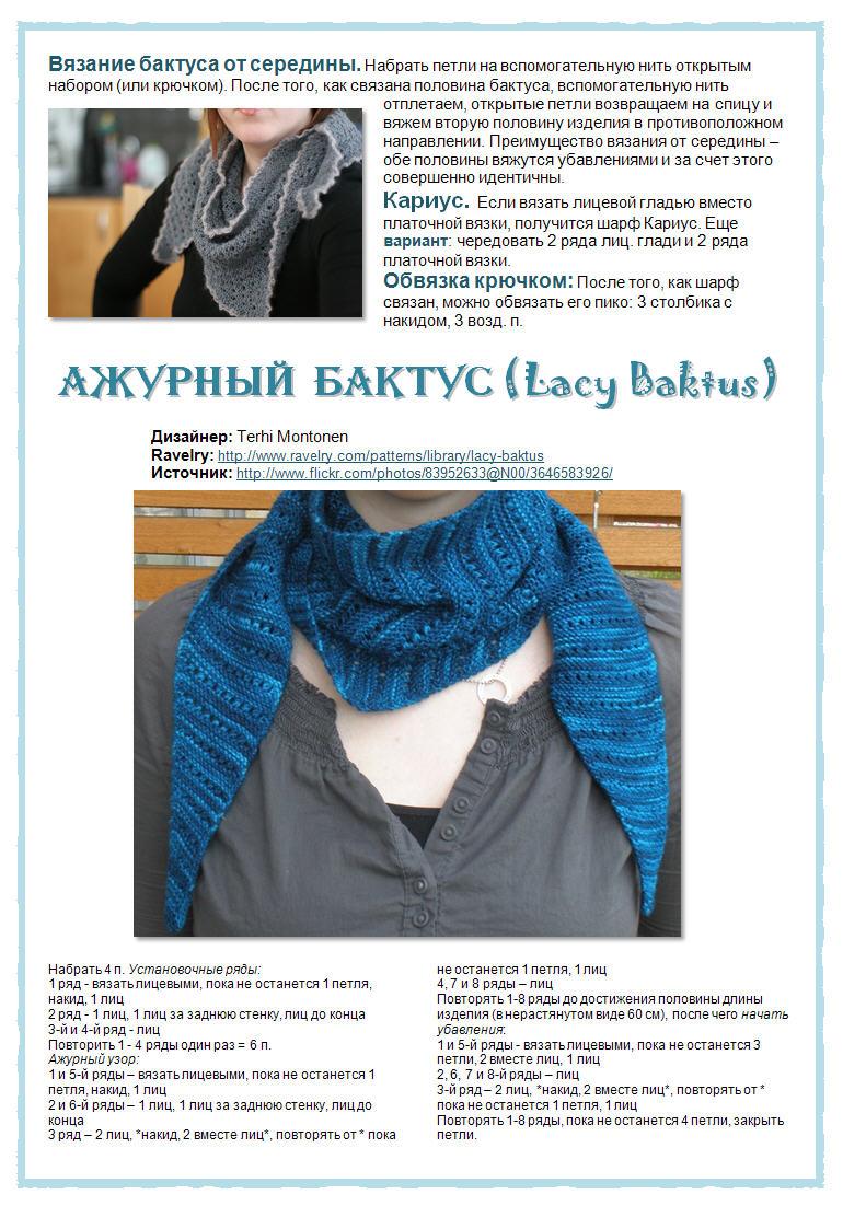 66Как связать ажурный шарф спицами для начинающих