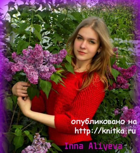 Женская кофточка спицами. Работа Inna Aliyeva. Вязание спицами.