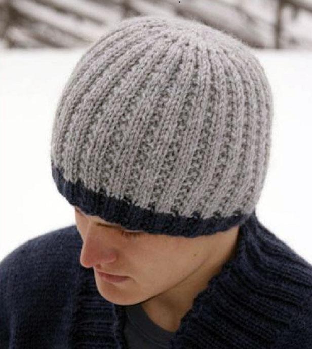 25 моделей мужских шапок связанных спицами вязание для мужчин