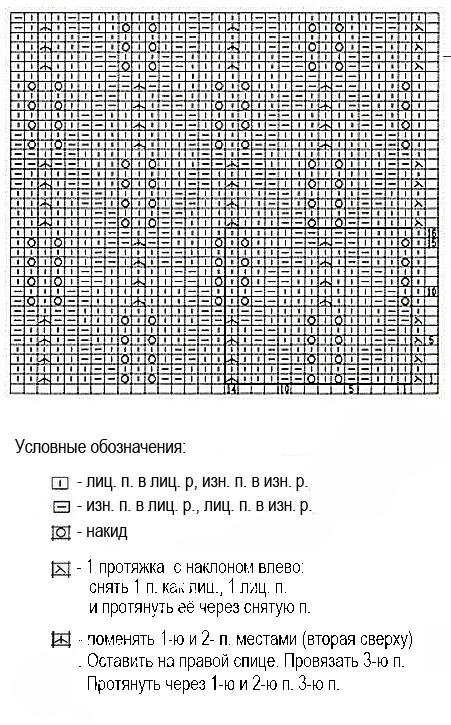 схема вязания кофточки