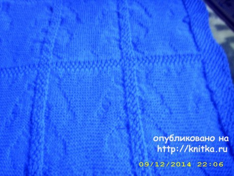 Детский плед спицами. Работа Лидии Климович вязание и схемы вязания