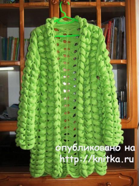 Кардиган Азиатский колосок. Работа Matronka вязание и схемы вязания