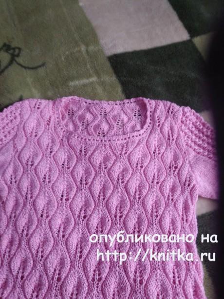 Летняя ажурная кофточка. Работа Лидии Климович вязание и схемы вязания