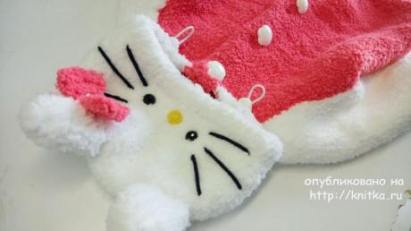 Толстовка для девочки спицами. Работа Elpis Надежды Юсуповой вязание и схемы вязания