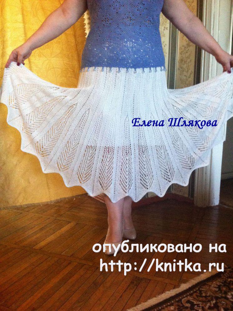 Вязаная спицами юбка. Работа Елены Шляковой, Вязание для ...