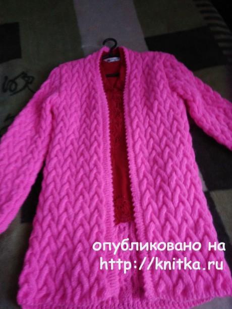 Вязаный женский кардиган. Работа Лидии Климович вязание и схемы вязания