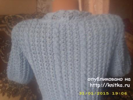 Женская кофточка спицами. Работа Лидии Климович вязание и схемы вязания