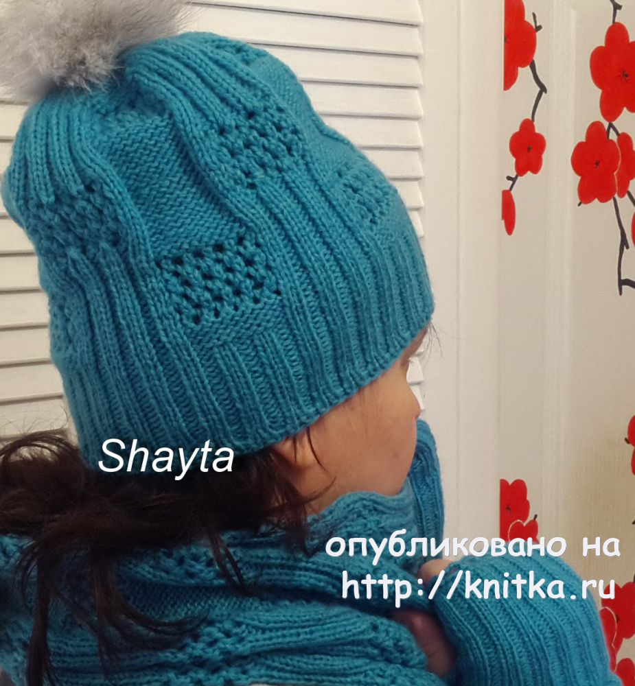 схема вязания шапки из пряжи ализе пуффи