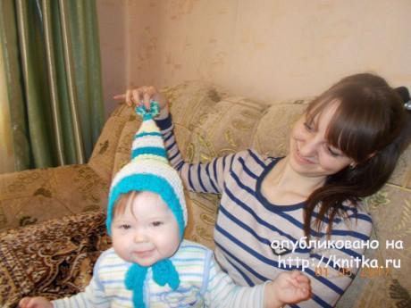 Шапка - буратинка спицами. Работа Светлан Сундуковой вязание и схемы вязания