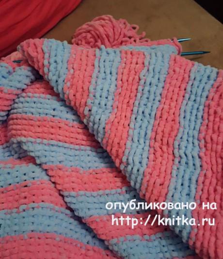 Вязаный детский плед. Работа Людмилы вязание и схемы вязания