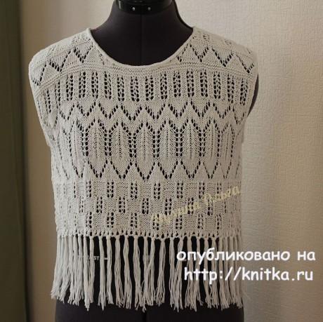 Топ для девочки спицами. Работа Мухиной Ольги вязание и схемы вязания