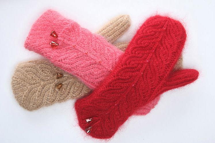 Варежки вязание спицами фото
