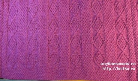 Кардиган связан вручную спицами. Авторская работа Светланы Якимовой вязание и схемы вязания