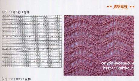 Схема вязания шарфа, ажурного