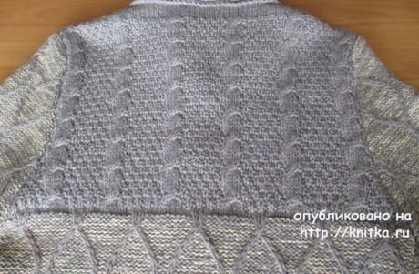 Пальто спицами. Авторская работа Светланы Якимовой вязание и схемы вязания