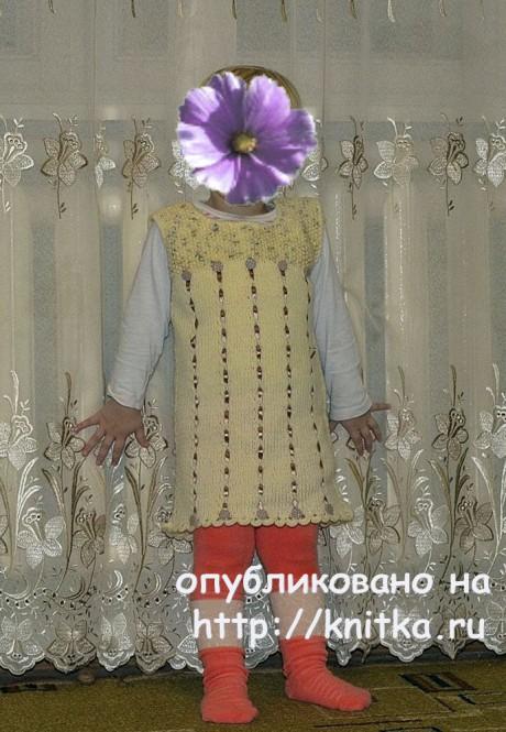 Сарафан для девочки спицами. Работа Светланы вязание и схемы вязания