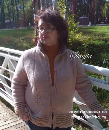 Жакет - куртка Гоби на молнии от Shayta. Авторская работа вязание и схемы вязания