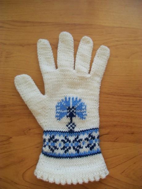 фото перчаток спицами