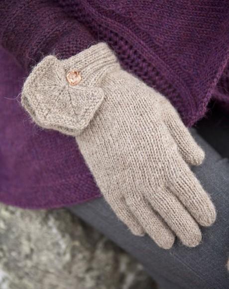 перчатки спицами фото