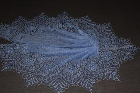 Треугольная шаль Валентина спицами. Вязание спицами.