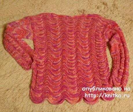 Джемпер для девочки 14 лет. Работа Александры Карвелис вязание и схемы вязания