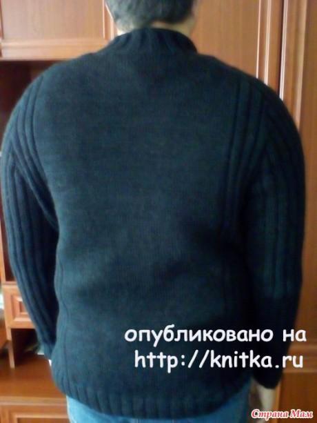 Кардиган для сына спицами. Работа Марины Ефименко вязание и схемы вязания