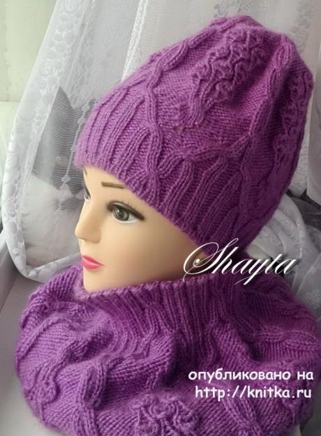 Комплект Вивьен от Shayta. Шапка, снуд и митенки вязание и схемы вязания