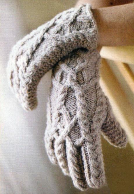 Вязание перчаток спицами
