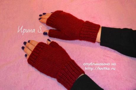 фото вязаных спицами перчаток