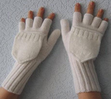 вязание перчаток спицами фото