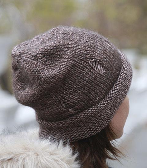 описание шапки с дырками лакшери рвань узоры для вязания спицами