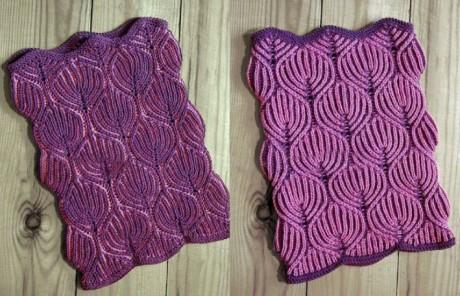 Описание шарфа-снуда  в технике бриошь