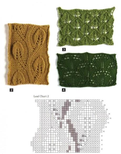 подушка спицами схема вязания