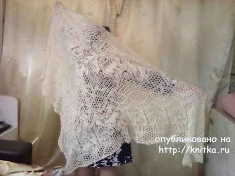 Шаль спиццами Екатерина Великая. Работа Раушании Уметбаевой вязание и схемы вязания