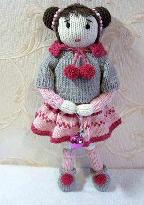 кукла Лея спицами