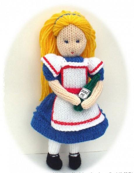 кукла Алиса спицами