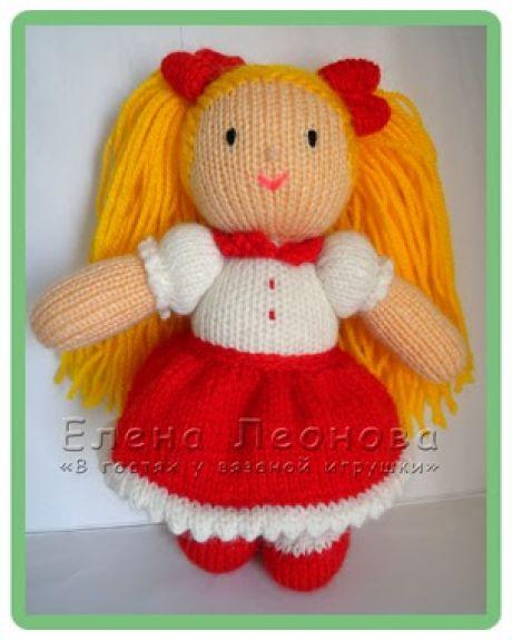 кукла Таня спицами фото