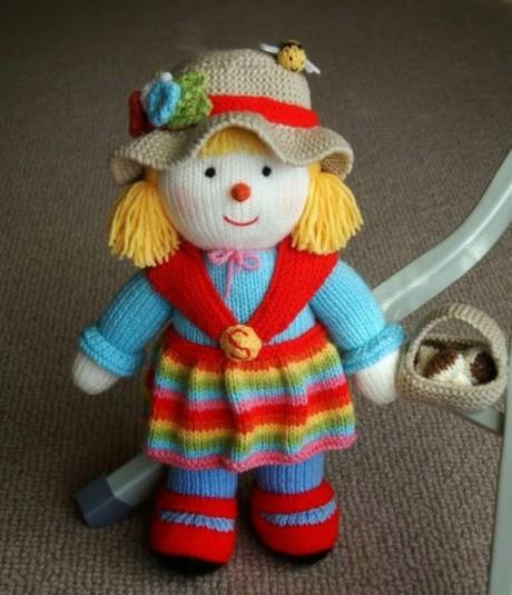 кукла спицами фото