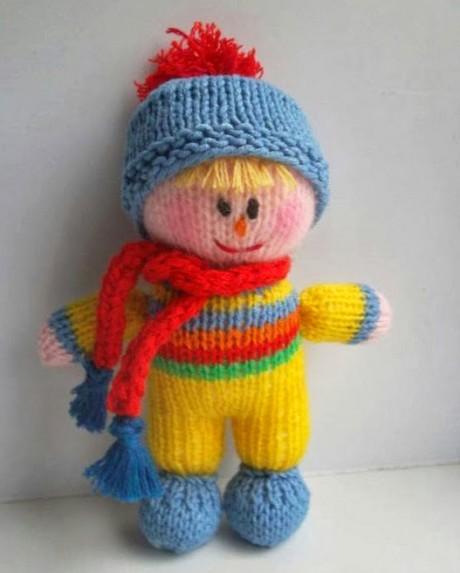 кукла - малыш спицами