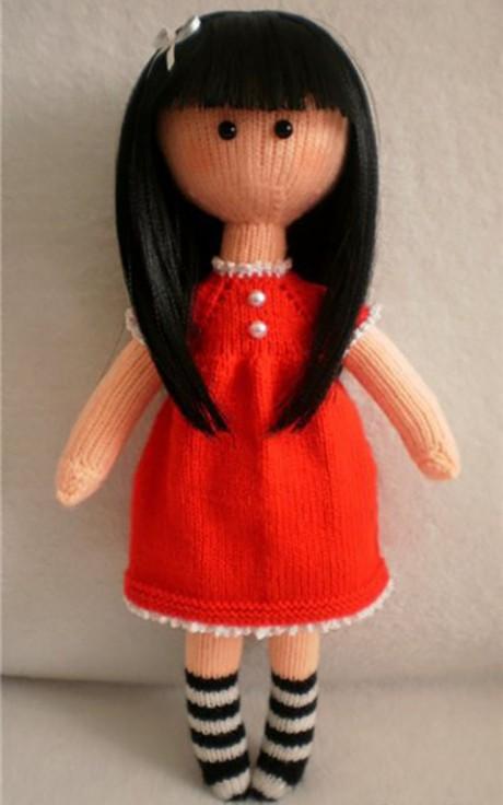 куколка Сьюзен спицами