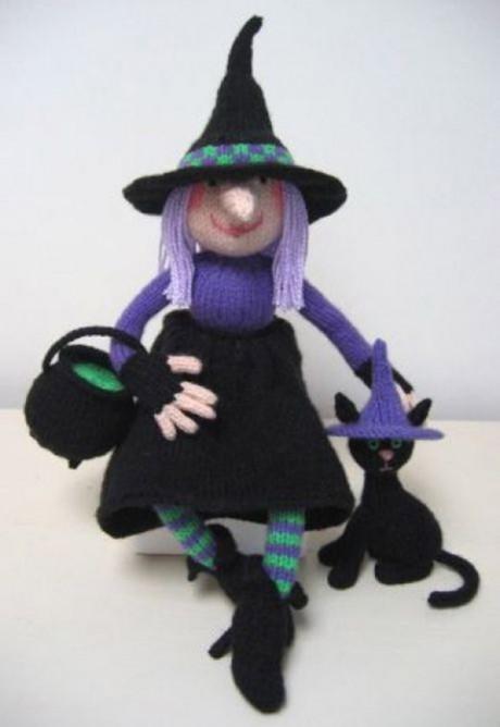 кукла ведьма спицами
