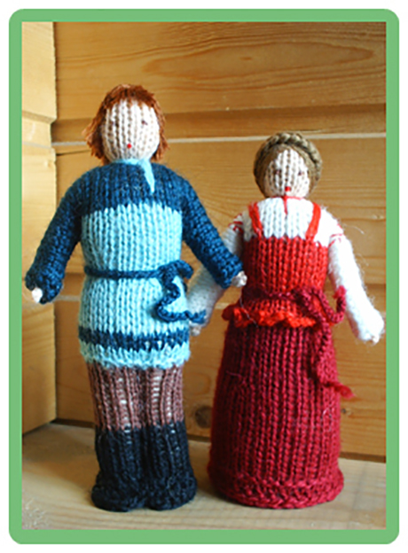 кукла крестьянка спицами